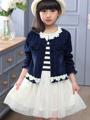 Thumbaby Denim Jacket Sports Suits Girls Clothing Set Tracksuit Floral Dress Denim Jacket Sports Suits Girls