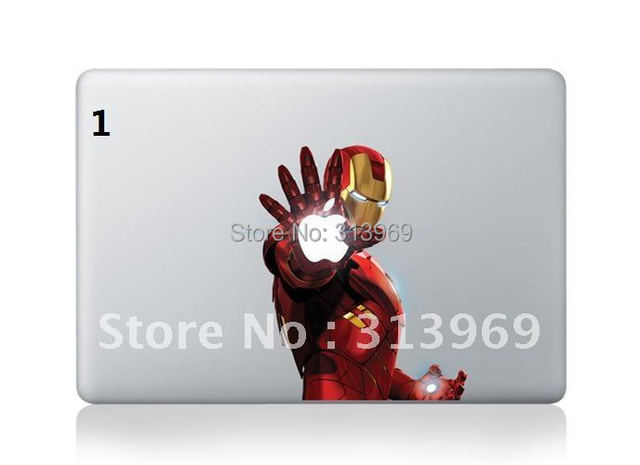 Iron Man Vinyl Decal Protective Laptop Sticker For Apple MacBook air pro Humor skin Art protector 400 shapes mix order