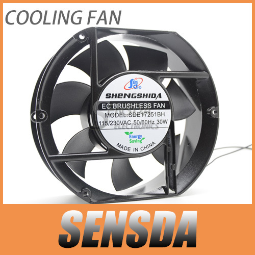 EC fan Customized 170mm 150mm fan AC 110V 115V 220V 230VAC axial 17251 industrial case cooling fans(China (Mainland))