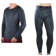 남자 남성 100% 순수 메리노 울 겨울 기본 레이어 열 따뜻한 스웨터 속옷 통기성 중간 무게 탑 바지 하단 세트(China)