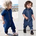 New Baby Boy Clothes Newborn Kids Romper Denim Zipper Jumpsuit Outfits