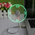 Hot selling Durable Adjustable USB Gadget Mini Flexible Time LED Clock USB Fan with LED Light