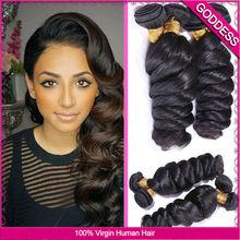 Luvin Hair Brazilian Loose Wave Hair 3 Pcs 6A Unprocessed  Brazilian Virgin Hair Loose Wave Wet  And Wavy Virgin Brazilian Hair(China (Mainland))