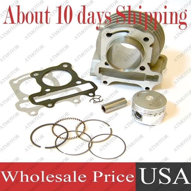 (6 sets a lot) Cylinder kit for GY6 100cc 50mm Big Bore Kit 139QMB/139QMA Engine Moped Scooter (Brand New)