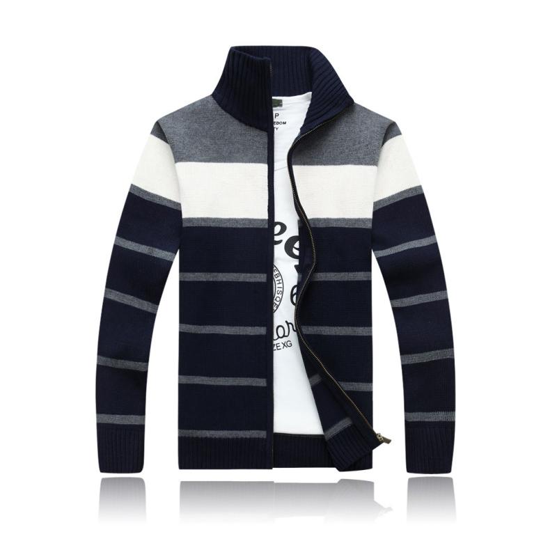 [해외]2015 봄 가을 양털 자켓 전체 우편 스포츠 스웨터 스트라이프..