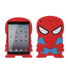 3D Cute Cartoon New arrival Spider-Man SpiderMan Soft Silicone cover Case For Apple ipad mini 3 mini 2 mini1 Rubber case(China (Mainland))
