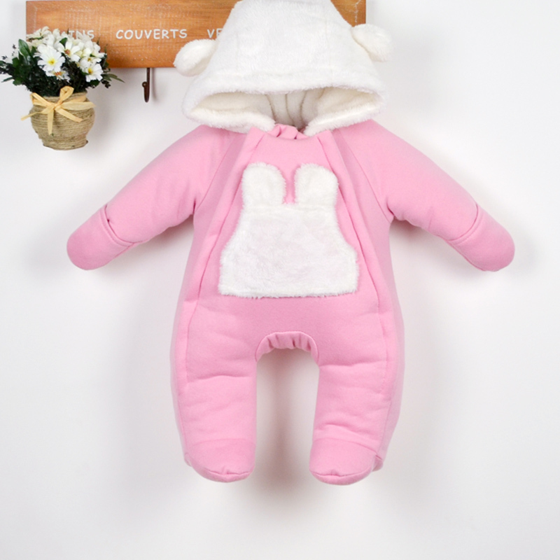 autumn winter rompers baby clothing kids cotton thick romper coat newborn girls warm jumpsuit jacket - Lily' house store