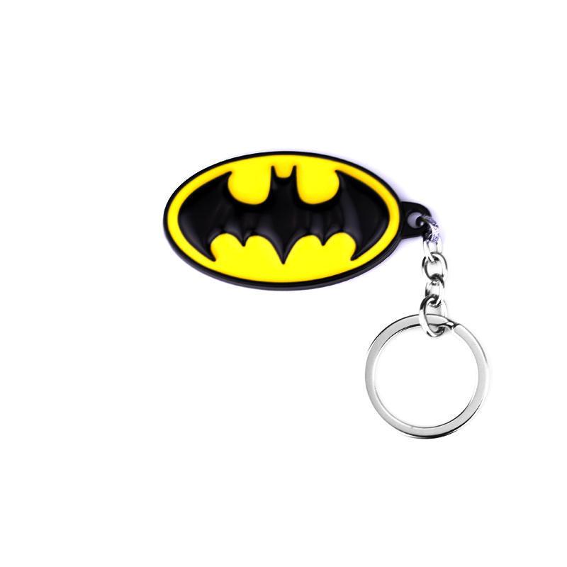 Batman Series Cartoon Key Chains The Avengers Super Hero Batman Keychain For Teen Boy Girls Metal DC Comics Key Ring Accessories(China (Mainland))