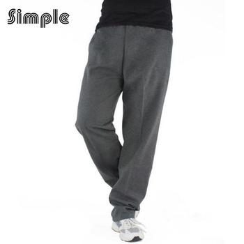 Твердые Мужчины Бег брюки хлопок mallas свободные дышащий спортивные штаны Большой размер спортивной Подготовки баскетбол jogger брюки плюс размер
