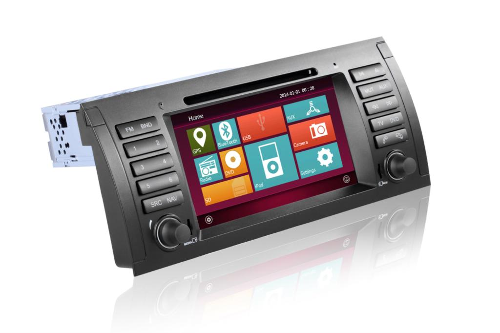 1 din car dvd player For bmw X5 e39 gps dvd navigation with new android system Free shipping and map(China (Mainland))
