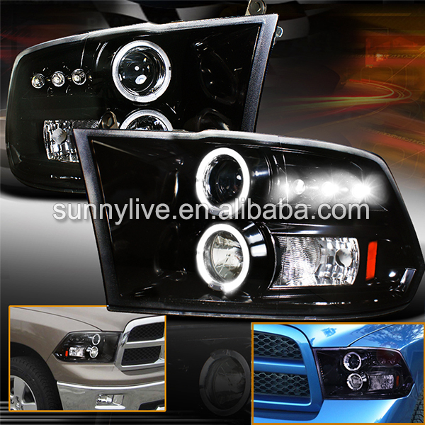 2009 2012 headlights for dodge ram ram pick up 1500 2500. Black Bedroom Furniture Sets. Home Design Ideas