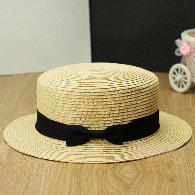 Compre Al Por Mayor Verano Moda Chapeu Feminino Beach Sun Hat Mujeres  Señora Fedora Hat Sombrero Suave Playa Paja Panamá Gorros Sombreros De  Mujer A  18.92 ... c0de55fe66d