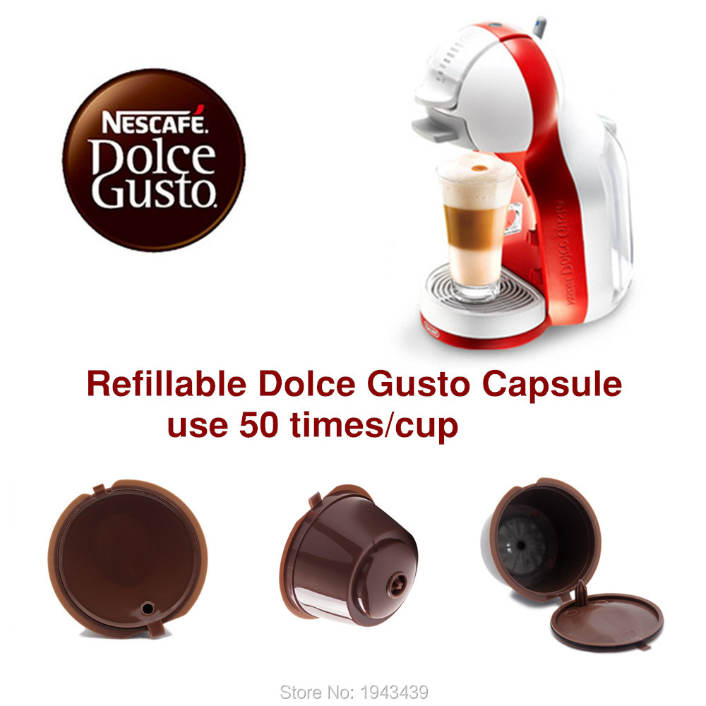 3pcs/pack use 150times Dolce Gusto Coffee Capsule Plastic Capsule Refillable Reusable Compatible with Nescafe Dolce Gusto refill(China (Mainland))