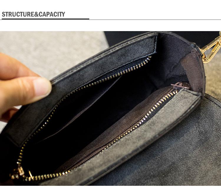 Retro Small Hand Bag Women Fashion PU Shoulder Bag Semicircular Handles Rivet Flap Bag Handbag Designer Nubuck Leather Crossbody