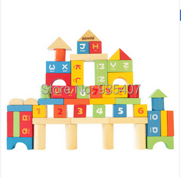 Family 50PCS wooden play better than alphanumeric bagged toy building blocks<br><br>Aliexpress
