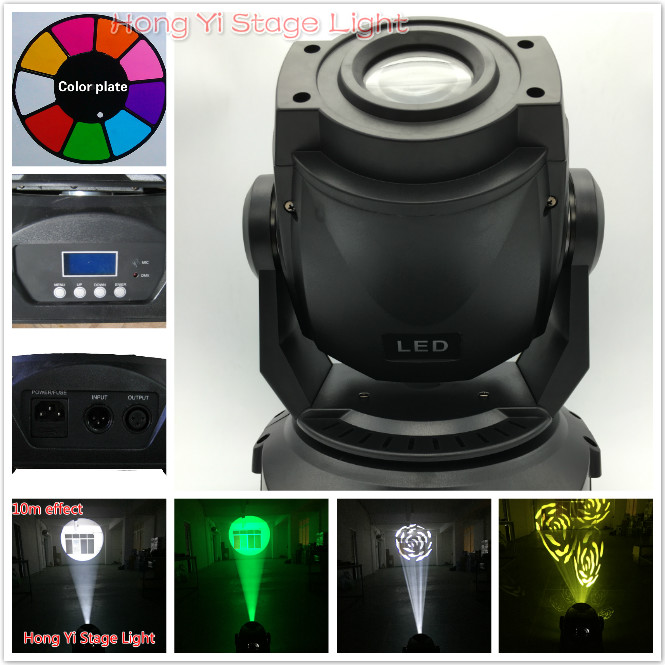90WLED Stage Light DJ mini Moving Head Spot Gobos Beam Lighting for Home Garden Party Christmas Wedding Stage Effect (Pack Of 1)(China (Mainland))