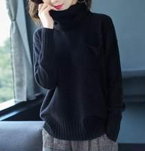 Vendita calda di Inverno Delle Donne Pullover 100% di Lana Maglione di Lavoro A Maglia e Pullover Delle Signore Oneck Maglie e Maglioni Con Separabile O-Sciarpa ad anello(China)