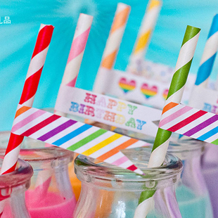 143 colors Eco-friendly Party Striped Chevron Polka Dot Drinking Paper Straws -250 EMS - lisa ling's store