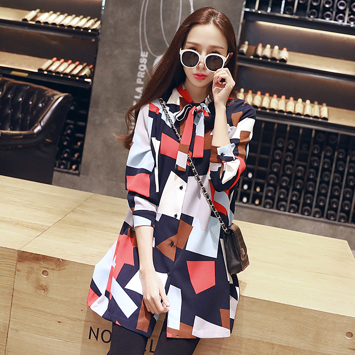 2016 Spring Maternity clothing Maternity basic shirt One-piece dress Comfortable Maternity floral print dress