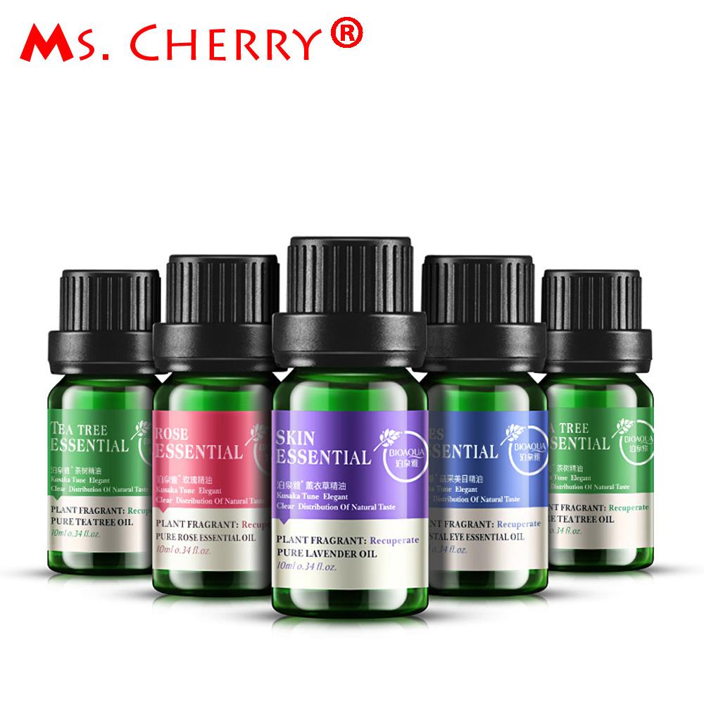 10 ML Extrato Da Planta Óleos Essenciais de Lavanda Natural Fragrância Óleo Da Árvore do Chá para o Cabelo Rosto Cuidados Com o Corpo Óleo de Massagem de Aromaterapia PH038