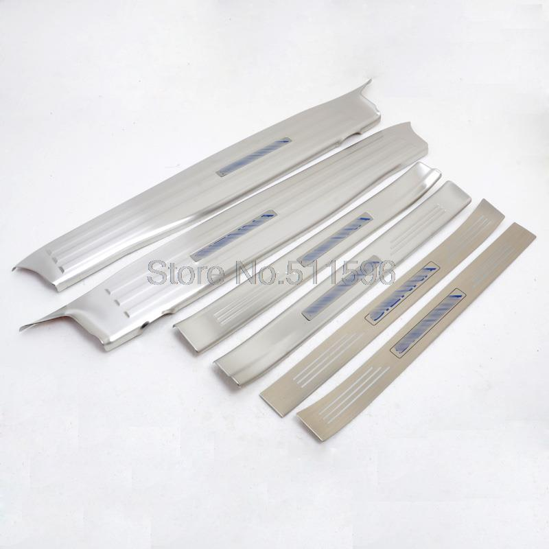 For Toyota Sienna 2011 2016 Stainless Steel Inner And Exterior Door Sills Scuff Plate Thresholds