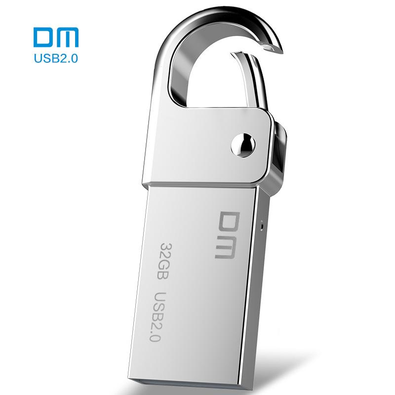 Free shipping DM PD027 USB Flash Drive Metal Pen Drive Key Ring Waterproof USB Stick Pendrive Flash Drive Metal USB Flash(China (Mainland))