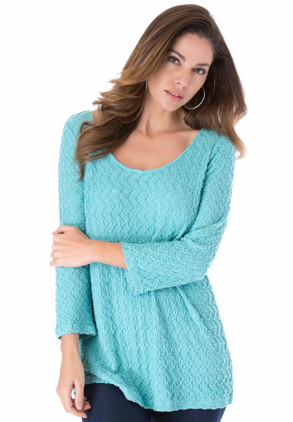 Xl 10xl novelty large size women textured top tee tshirt for Womens denim tunic shirt