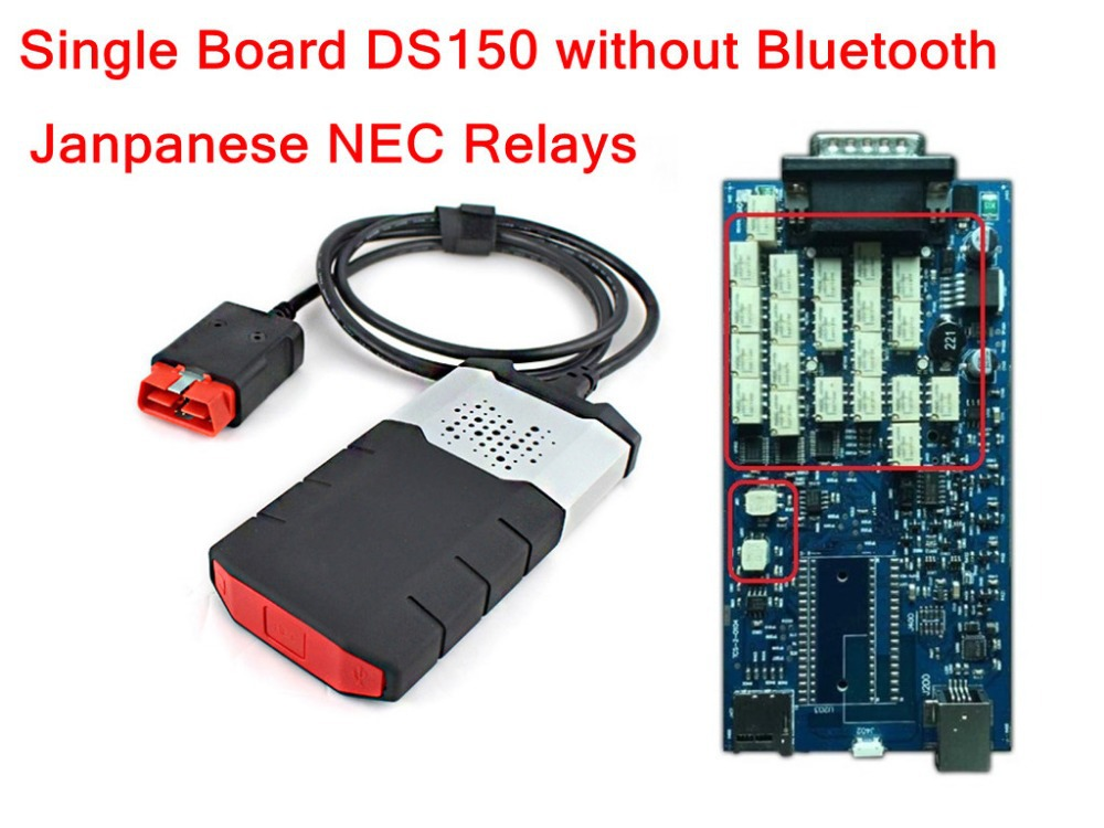 Single Board !! DS150 flight function 2014.2 version LED OBD CONNECTOR NEW VCI CDP PLUS Quality A+Janpanese NEC relays in box(China (Mainland))