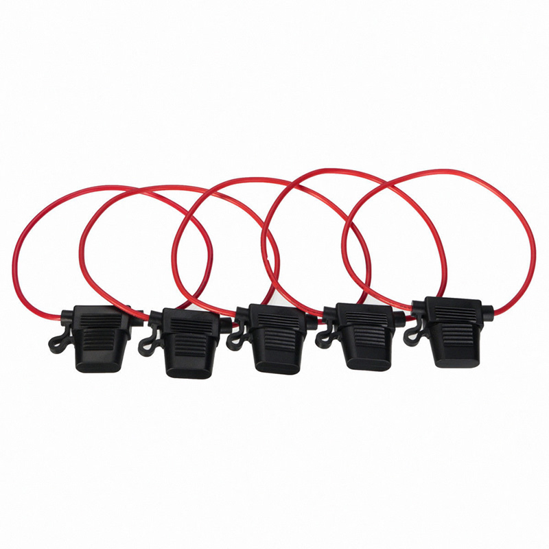 5pcs 30A Waterproof Amp In Line Stanard Blade Type Fuse Holder Fuses Car Auto(China (Mainland))