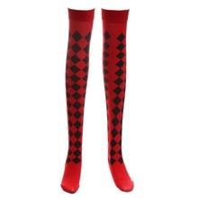Kadın Cadılar Bayramı Cosplay Çorap Hayalet Elmas Diz Yüksek Uzun Çizme Çorap Parti(China)