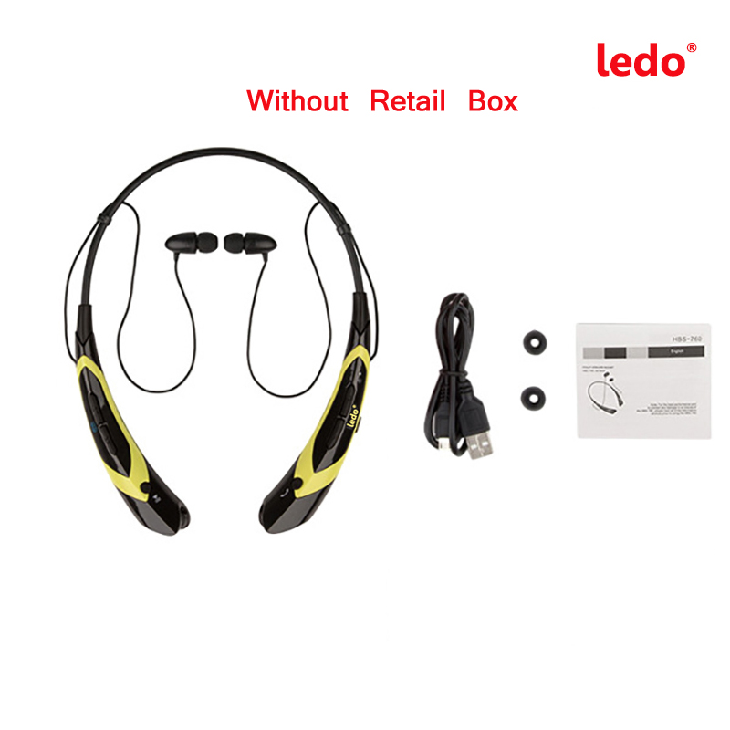2016 Fashion Ledo Wireless Bluetooth CSR4.0 Headset In-ear Headphones Stereo with Mic Earphone for Sports iPhone7 Samsung phone
