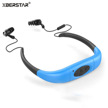 2017 Version 4GB Waterproof IPX8 Sports MP3 Player Neckband FM Radio Swimming Surfing Running MP3 with Earphones Underwater(China (Mainland))