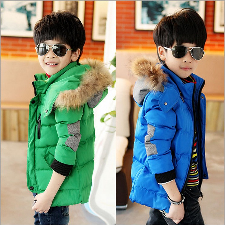 Brand Winter Children Outerwear Warm Coat Kids Clothes Thickened Windproof Baby Boys Jackets Age 4-11T 2 Colors - P child home store