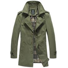 2015 Autumn New Arrivals British Stylish Sobretudo Masculino Casacos Fashion Men Trench Coat Male Slim Fit Casual Jacket Outwear(China (Mainland))