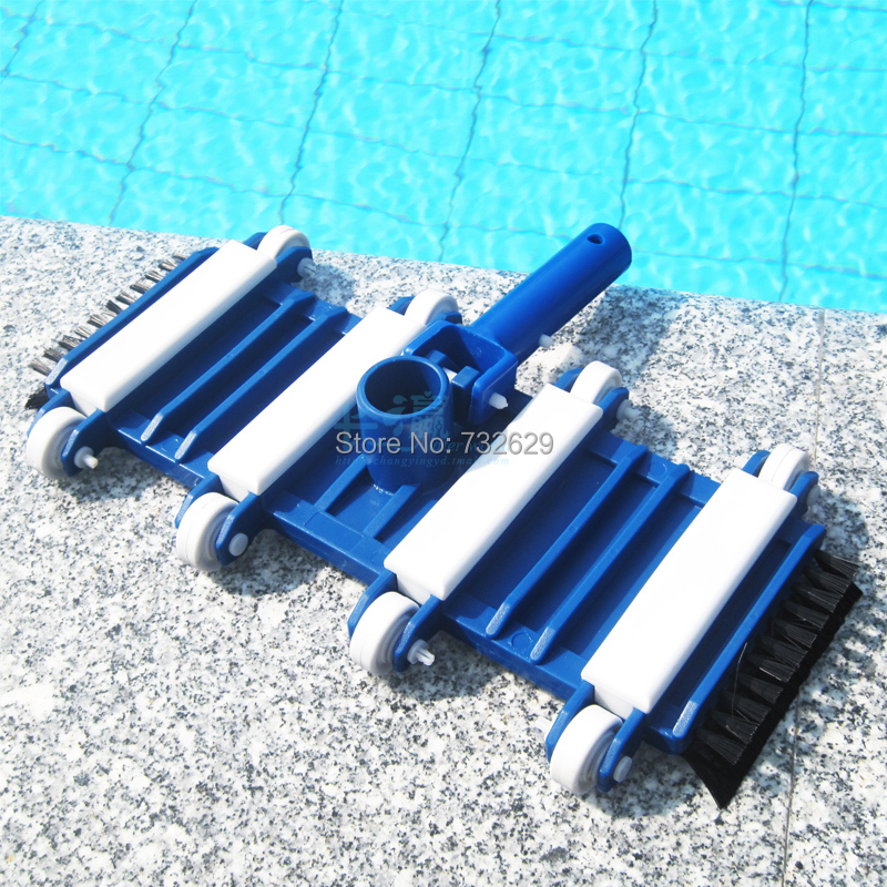 pisicina accessories 14inch pool cleaning vacuum head with bottom and side brushes limpeza de piscinas(China (Mainland))