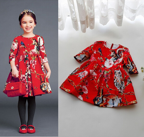 XQ-093 Free shipping 2015 new retail and wholesale 1 pcs girl's personality dress for spring and autumn children dress baby suit(China (Mainland))