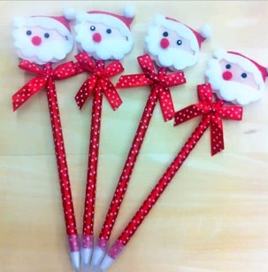 Free shipping Christmas christmas bear bow ballpoint pen plush christmas bear(China (Mainland))