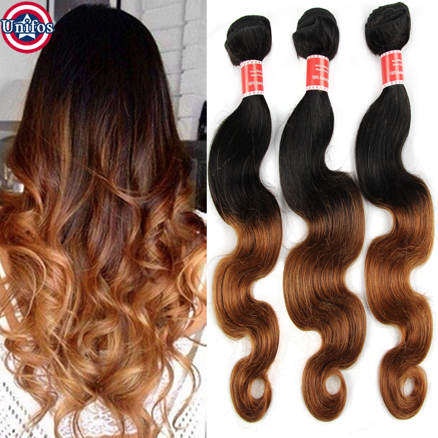 Modern Hair Extention Brazilian Body Wave #27 Honey Strawberry Blonde Discount Human Hair Weave 2/3 pcs Lot Wowigs Virgin Hair