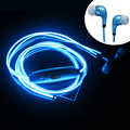 Hot New EL glow Headphones Led Luminous Earphones el Glowing led Headphones MIC 3 5mm USB