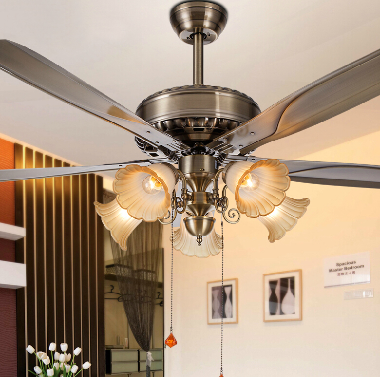 Oak Ceiling Fans With Lights : Wholesale europe style vintage art fans light creative oak