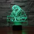 New Zootopia Sloth Lamp 3D Night Light Touch Button lamparas de mesa Novelty Lighting for Children