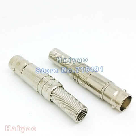 100pcs RG59 BNC Female Plug pin Solderless Straight Angle cable Connector Adapter for CCTV Camera(China (Mainland))