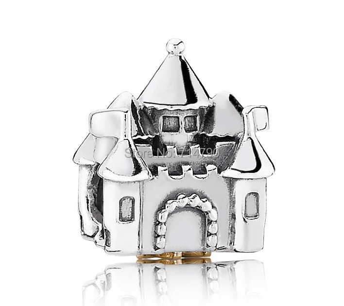 925 Sterling Silver Castle Crown Charm Bead Fits European Style Jewelry Bracelets & Necklaces - Love my family store