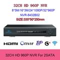 Video surveillance 1 5 U Onvif 2 0 32CH NVR for 2 Megapixel IP Camera 1920