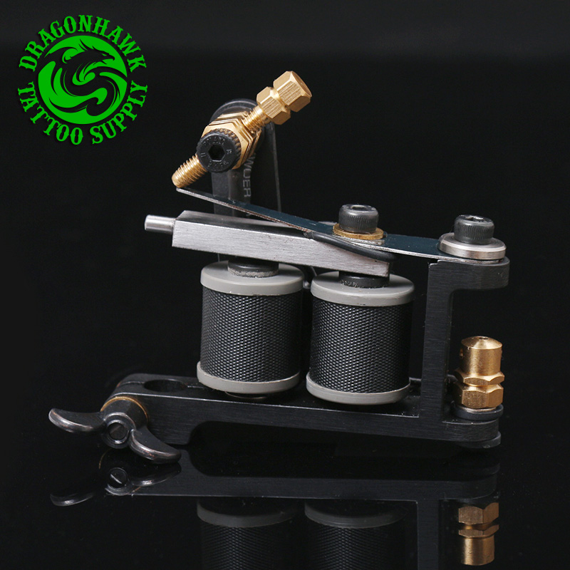 Free Shipping New Design Handmade Tattoo Machine 10 Wrap Coil Tattoo Gun Supplies For Shader And Liner