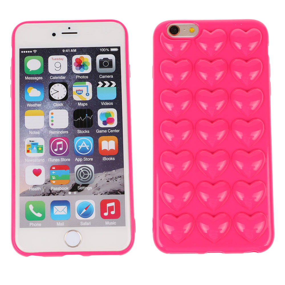 For i6/6s Korean peach heart Jelly phone case Candy soft silicone TPU Love case shell back cover for iphone 6 6s 4.7(China (Mainland))