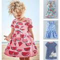 New 2017 Quality Brand 100 Cotton Baby Girls Dresses Summer Children Clothing Short Sleeve Kids Striped