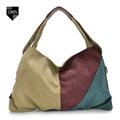 Designer Elegant Patchwork Women s Shoulder Bag Canvas Female Casual Panelled Crossbody Bag Envelope Style Portable