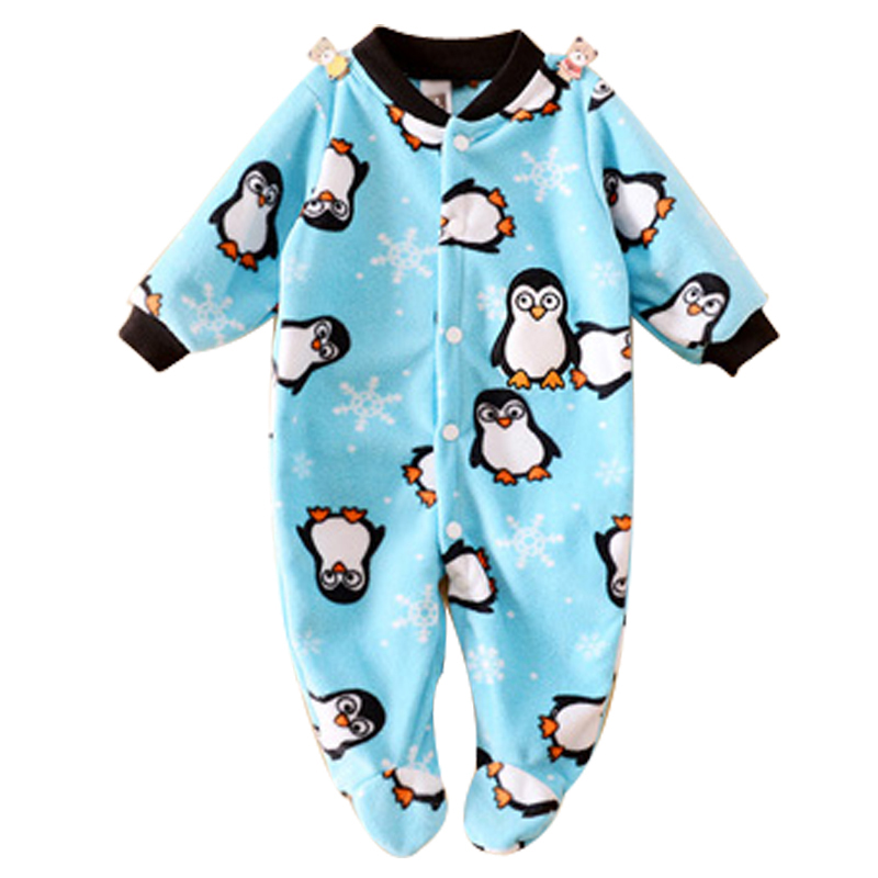 Brand Baby Clothes Pajamas Newborn Baby Rompers Animal Infant Fleece Long Sleeve Jumpsuits Boys Girl Spring Autumn Clothes Wear(China (Mainland))