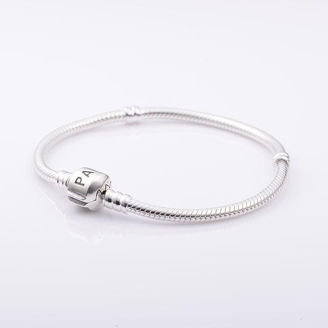 Аутентичные 925 серебряный браслет змея цепи застежка бусины подходящий европейский бусины подвески браслеты 925 DIY женщины ювелирные